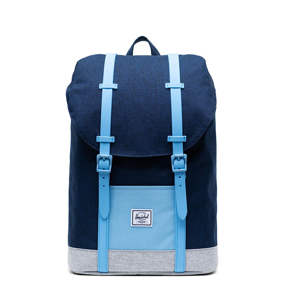 Herschel Retreat Youth Rugzak Medieval Blue Crosshatch/ Light Grey/ Alaskan Blue