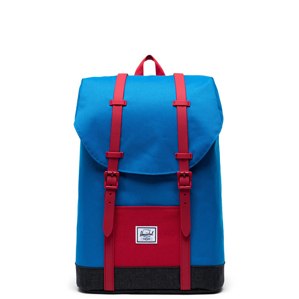 Herschel Retreat Youth Rugzak Imperial Blue Red Black Crosshatch