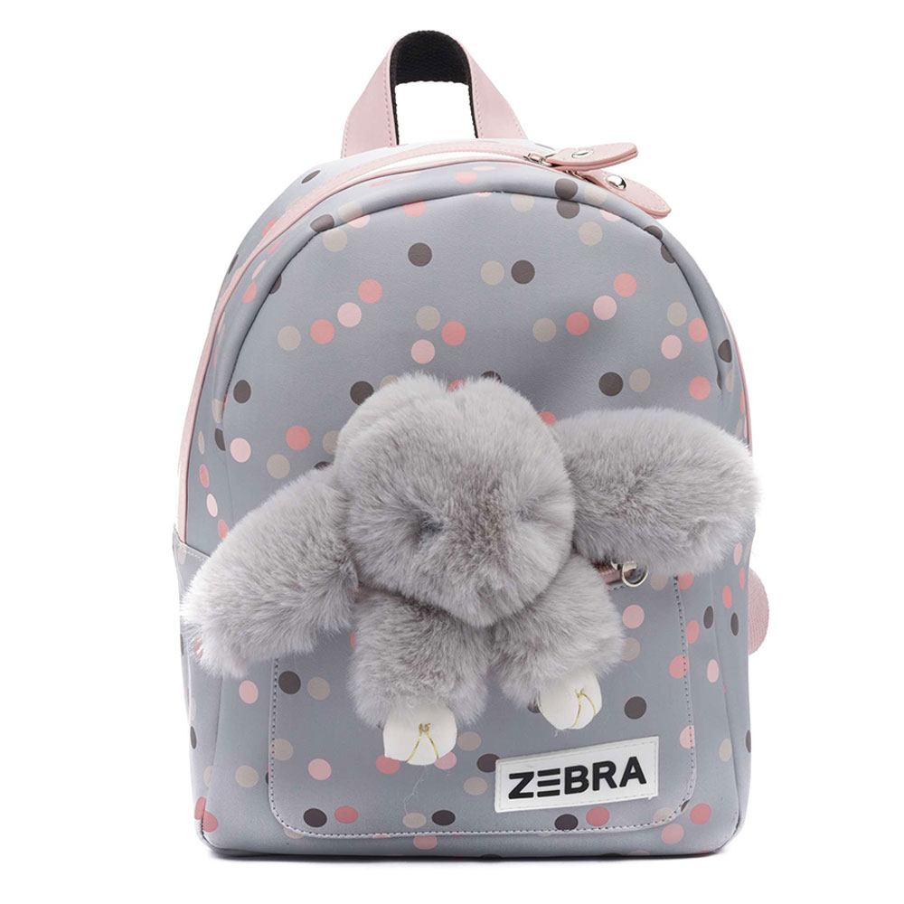 Zebra Trends Kinder Rugzak S Honey Bunny Blue Dots