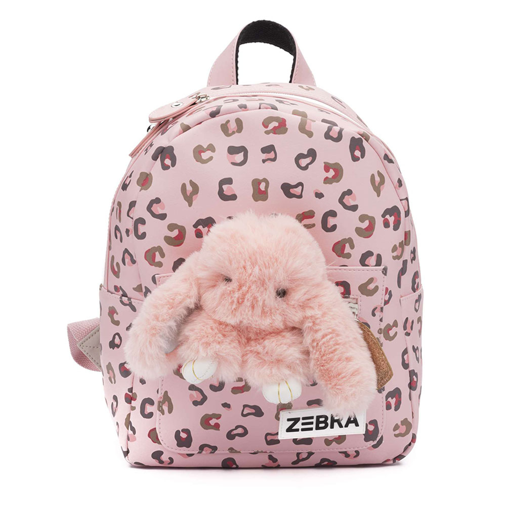 Zebra Trends Kinder Rugzak S Honey Bunny Leo Pink