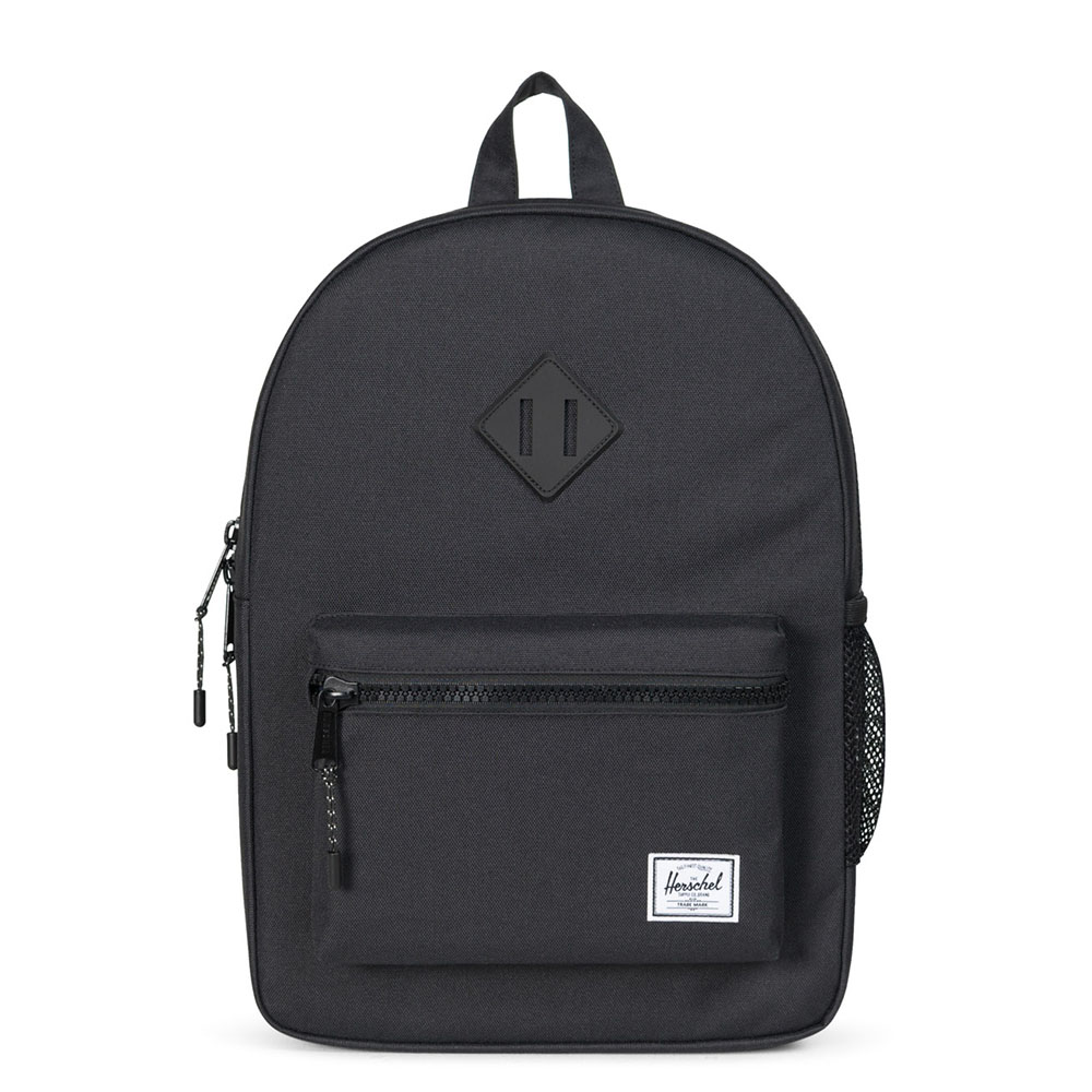 Herschel Heritage Youth Rugzak Black/ Black Rubber