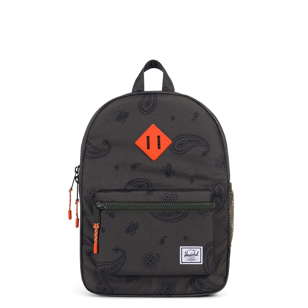 Herschel Heritage Youth Rugzak Bandana Paisley/Vermillion Orange