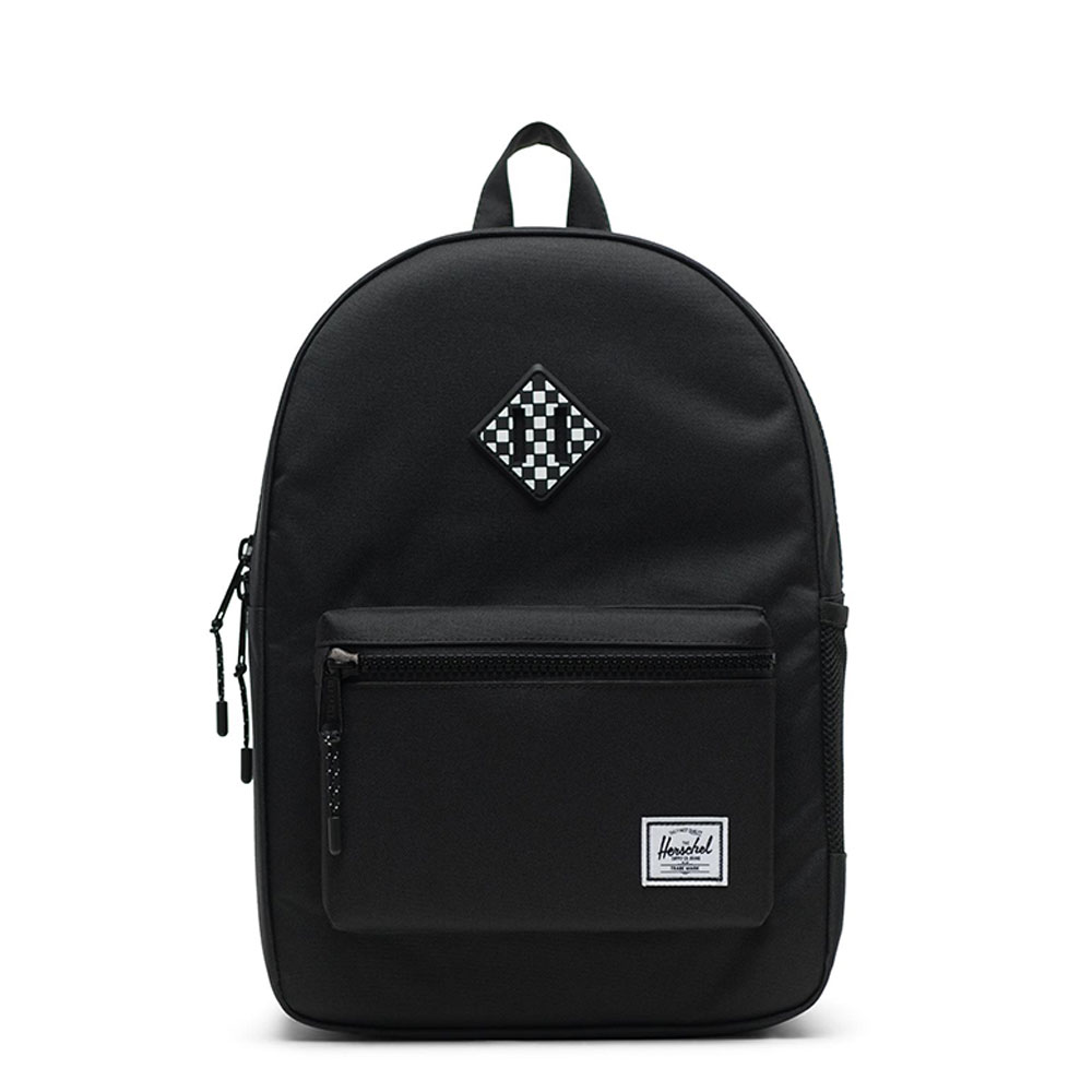 Herschel Heritage Youth Rugzak Youth Black/ Checkerboard Rubber
