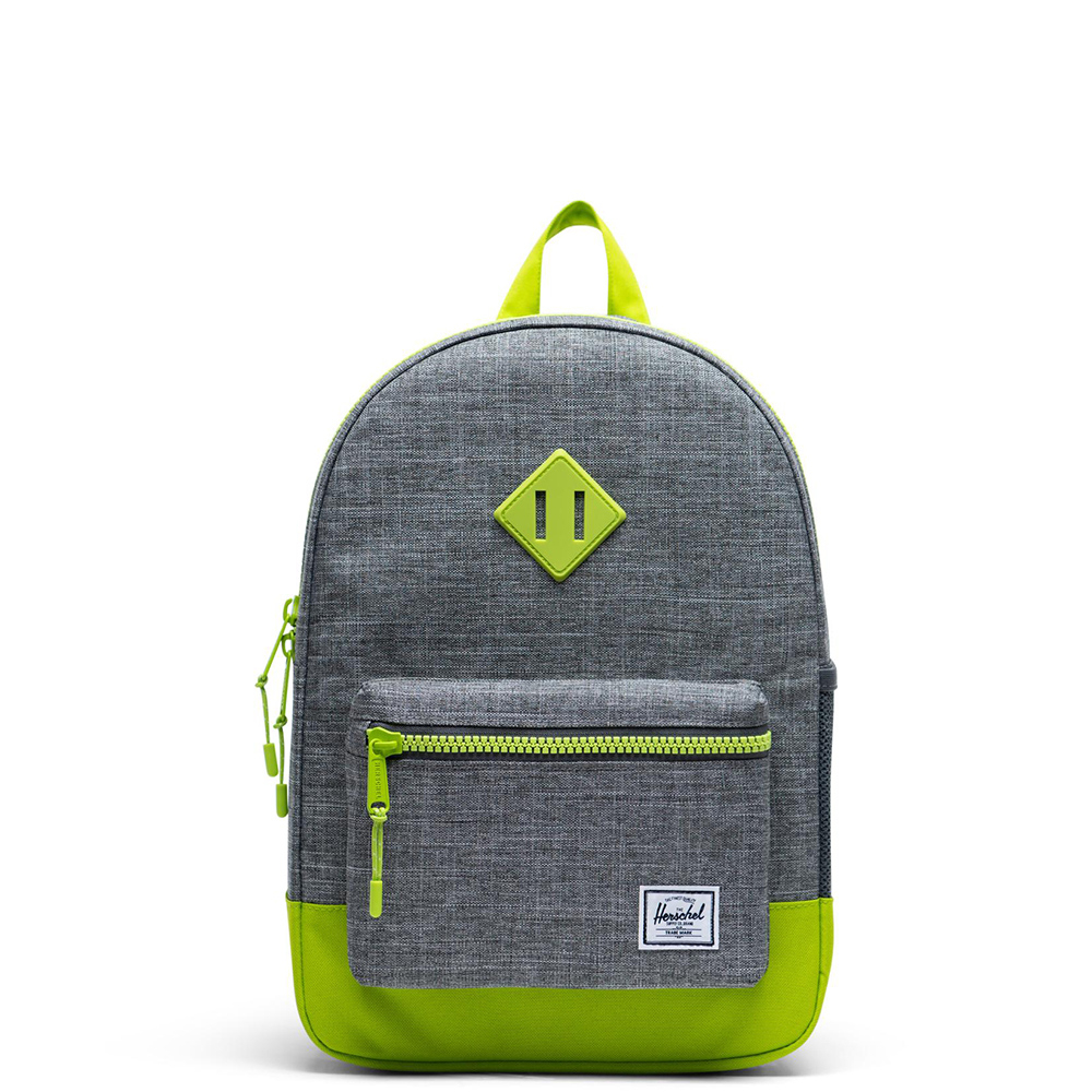 Herschel Heritage Youth Raven Crosshatch Lime Green