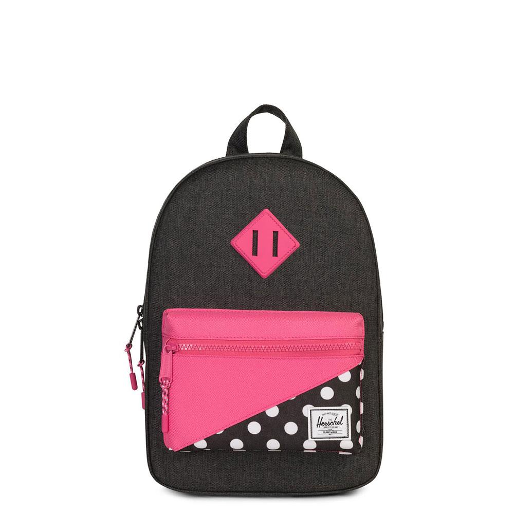 Herschel Heritage Kids Rugzak Black Crosshatch/Polka Dot/Fandango Pink