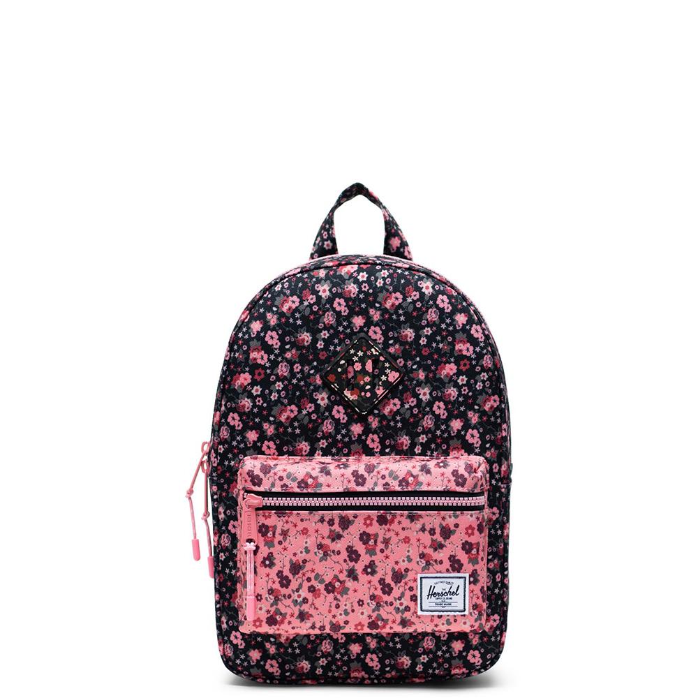 Herschel Heritage Kids Rugzak Multi Ditsy Floral Black Flamingo Pink