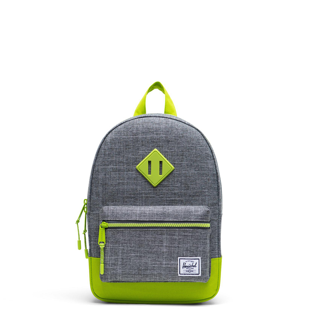 Herschel Heritage Kids Rugzak Raven Crosshatch Lime Green