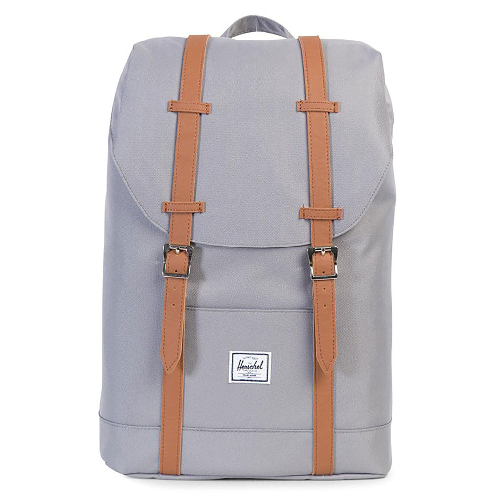 Herschel Retreat Mid-Volume Rugzak Grey/Tan Synthetic Leather