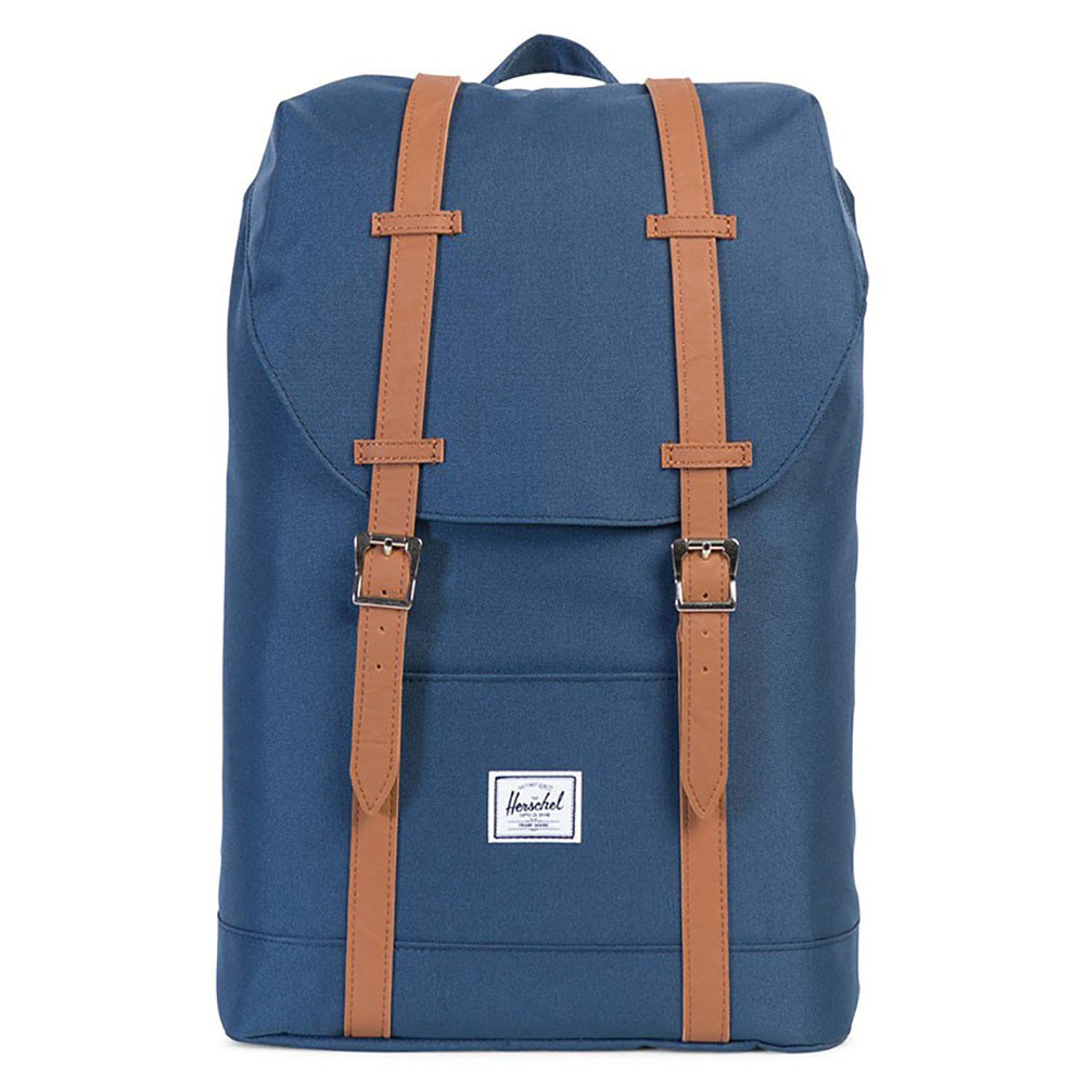 Herschel Retreat Mid-Volume Rugzak Navy/Tan Synthetic Leather