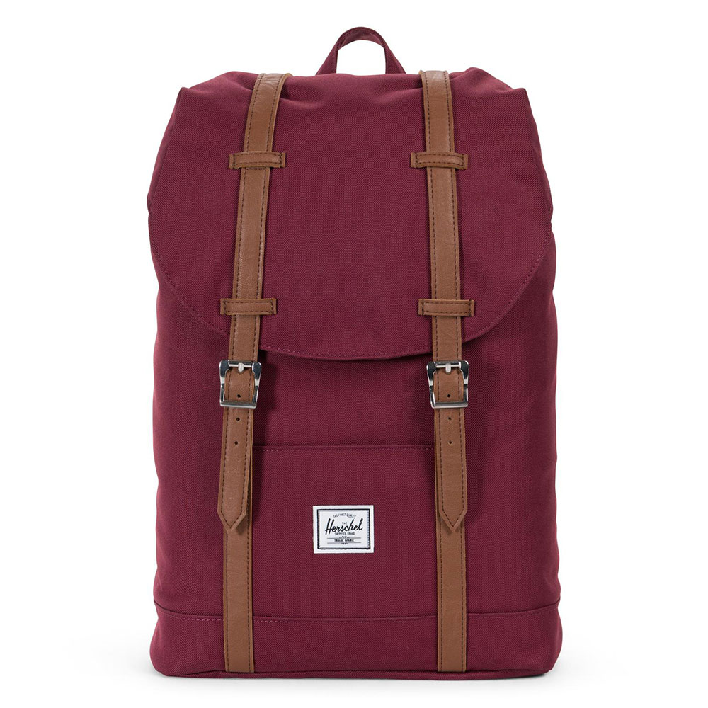 Herschel Retreat Mid-Volume Rugzak Windsor Wine/Tan Synthetic Leather
