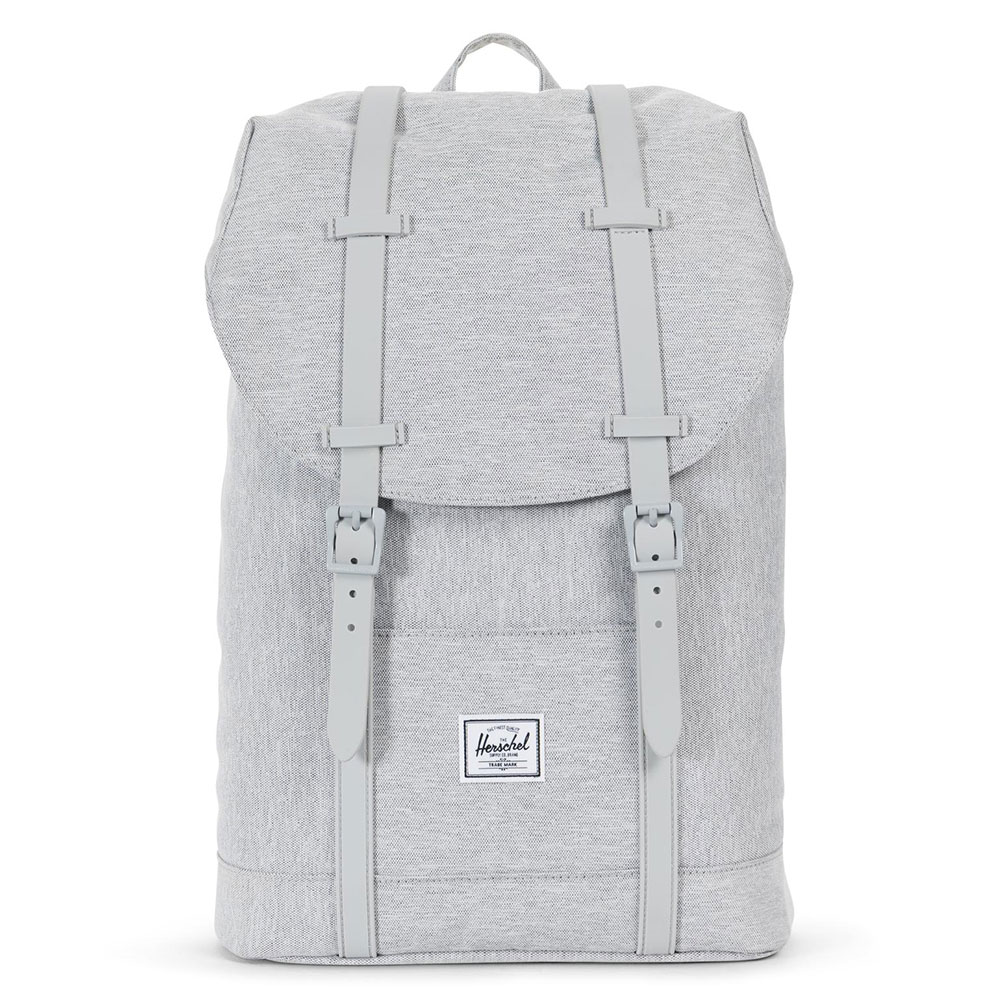 Herschel Retreat Mid-Volume Rugzak Light Grey Crosshatch/Grey Rubber