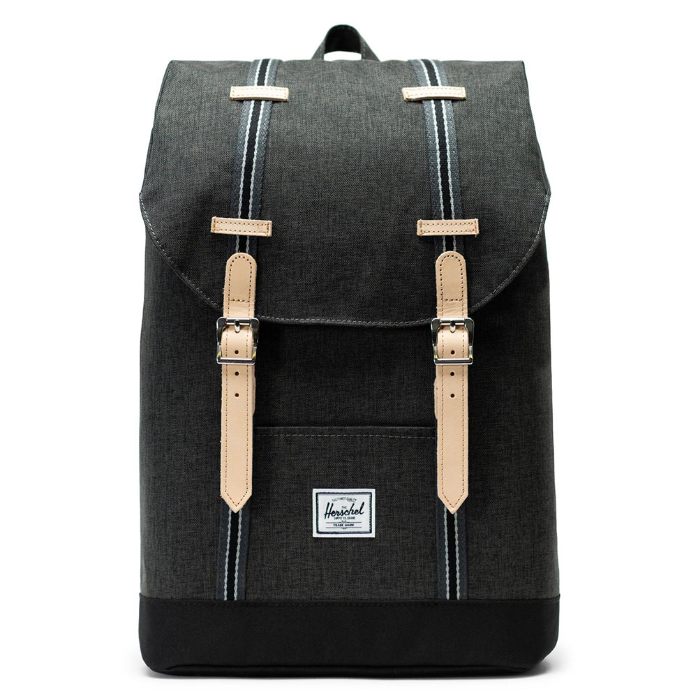 Herschel Retreat Mid-Volume Rugzak Offset Black Crosshatch/Black