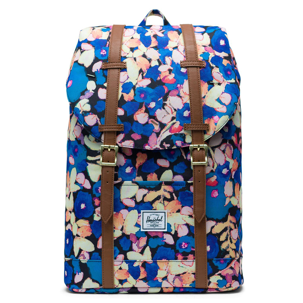 Herschel Retreat Mid-Volume Rugzak Painted Floral/Tan Synthetic Leather