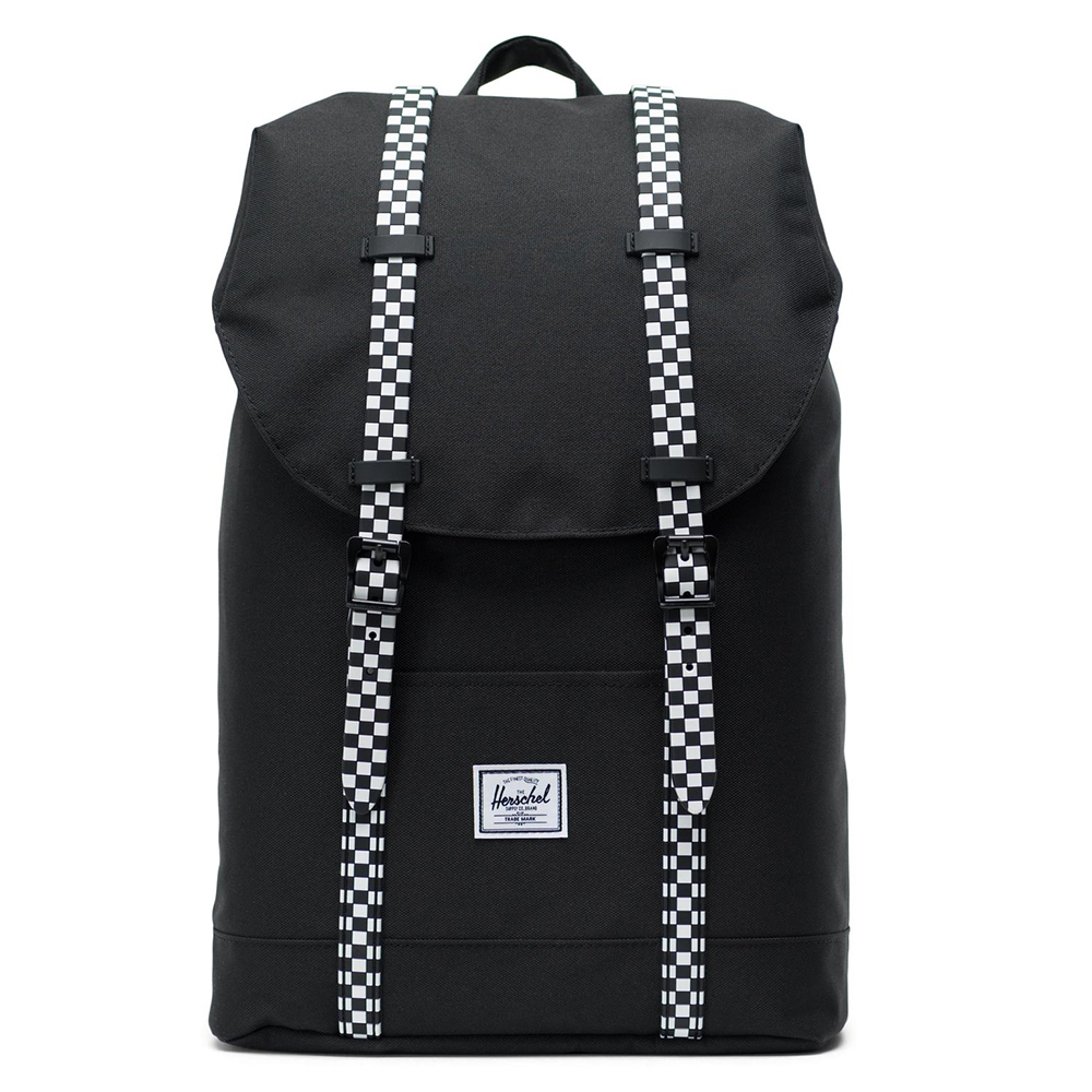 Herschel Retreat Mid-Volume Rugzak Black/Checkerboard