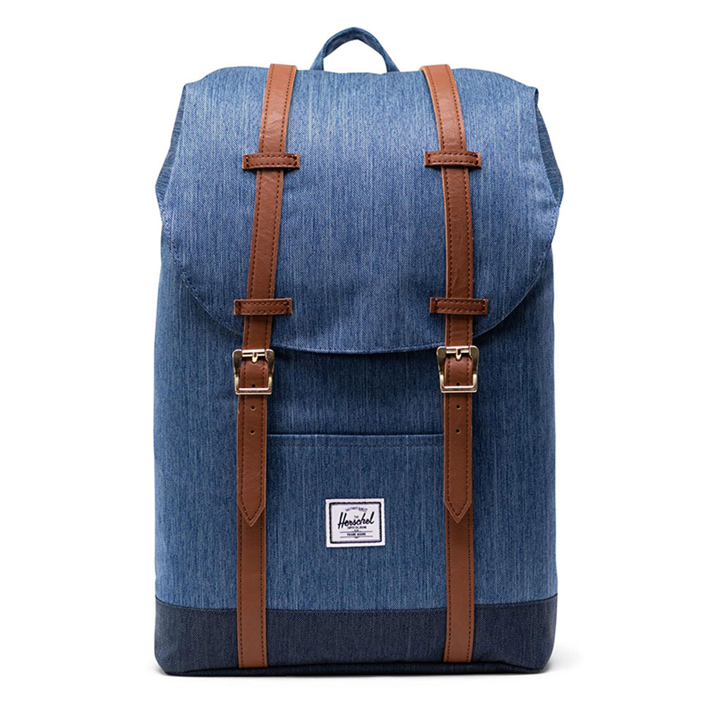 Herschel Retreat Mid-Volume Rugzak Faded Denim/ Indigo Denim