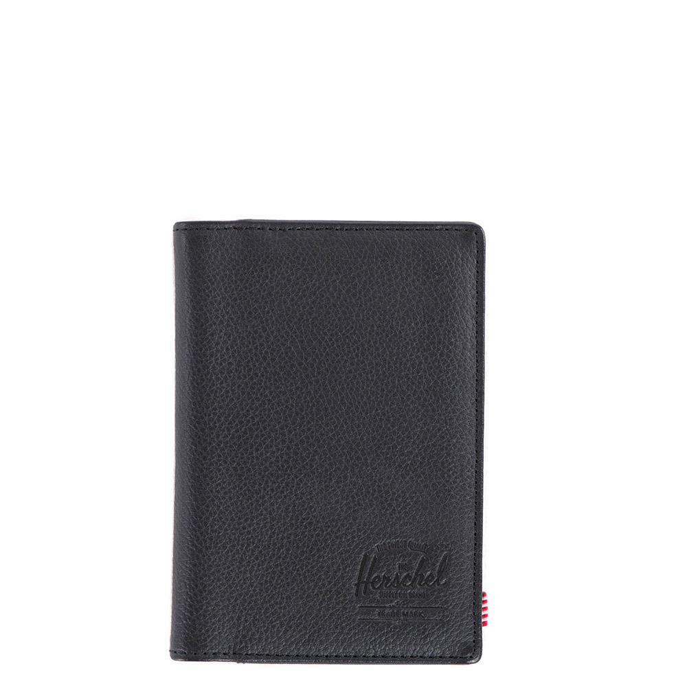Herschel Raynor Passport Holder RFID Leather Black
