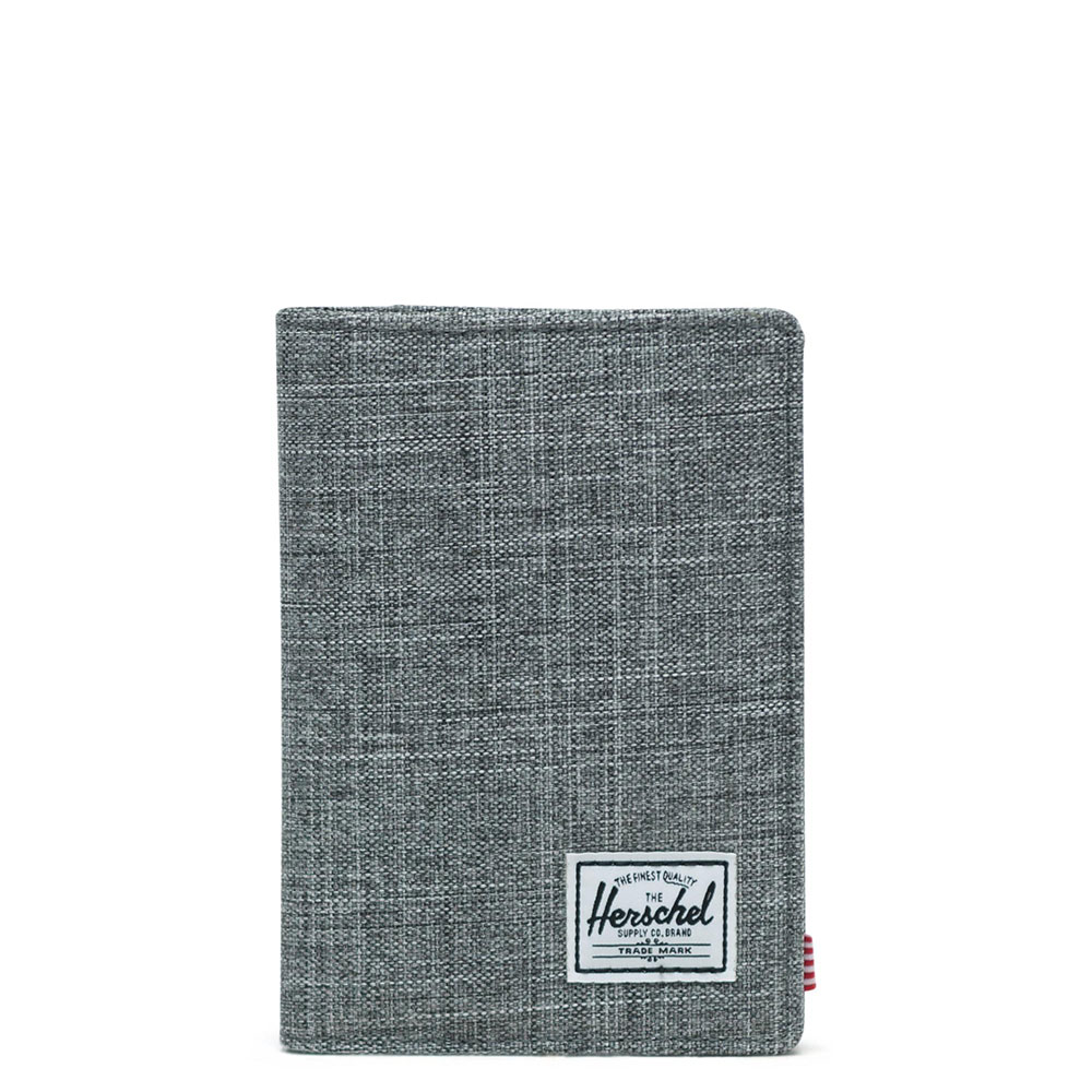 Herschel Raynor Passport Holder RFID Raven Crosshatch