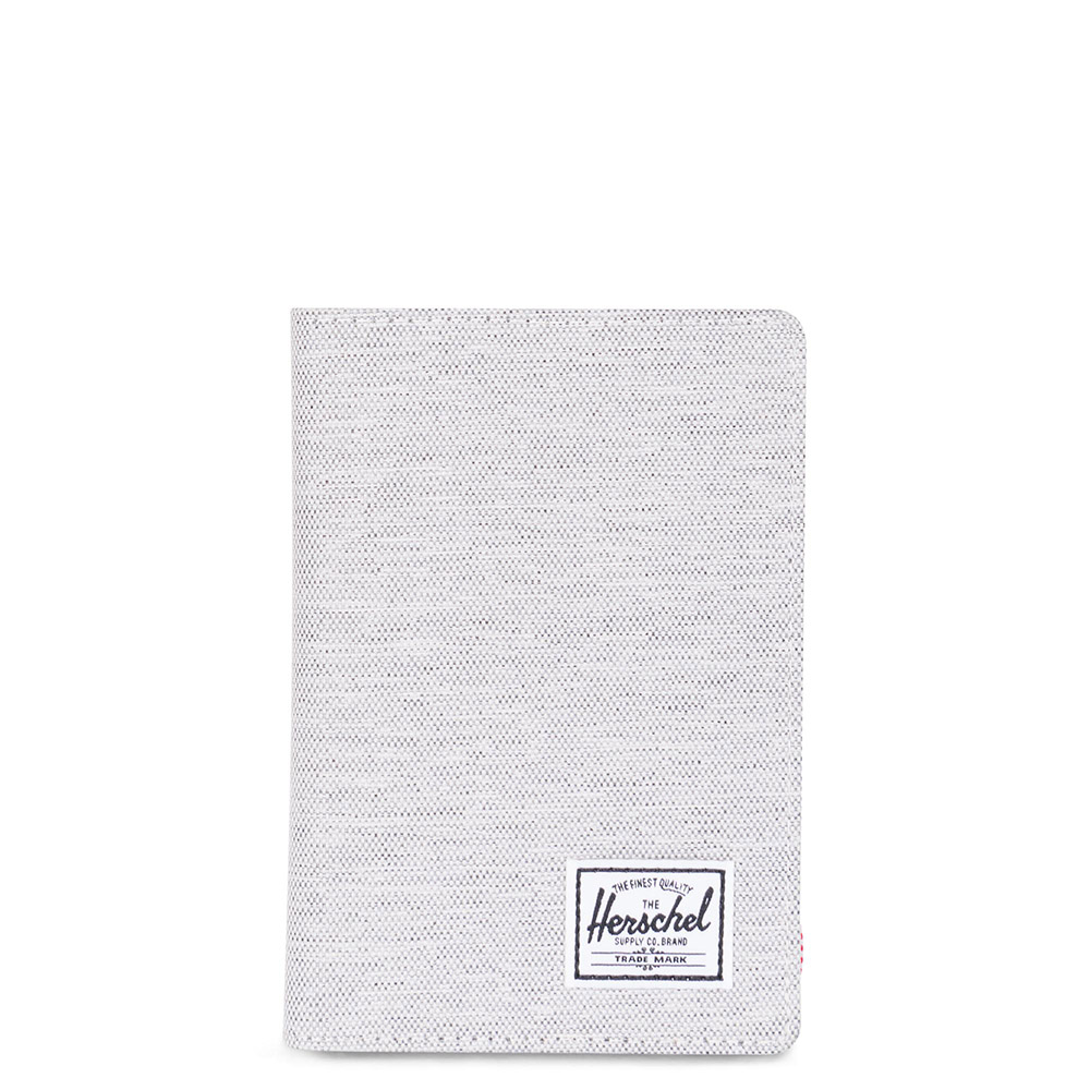 Herschel Raynor Passport Holder RFID Light Grey Crosshatch