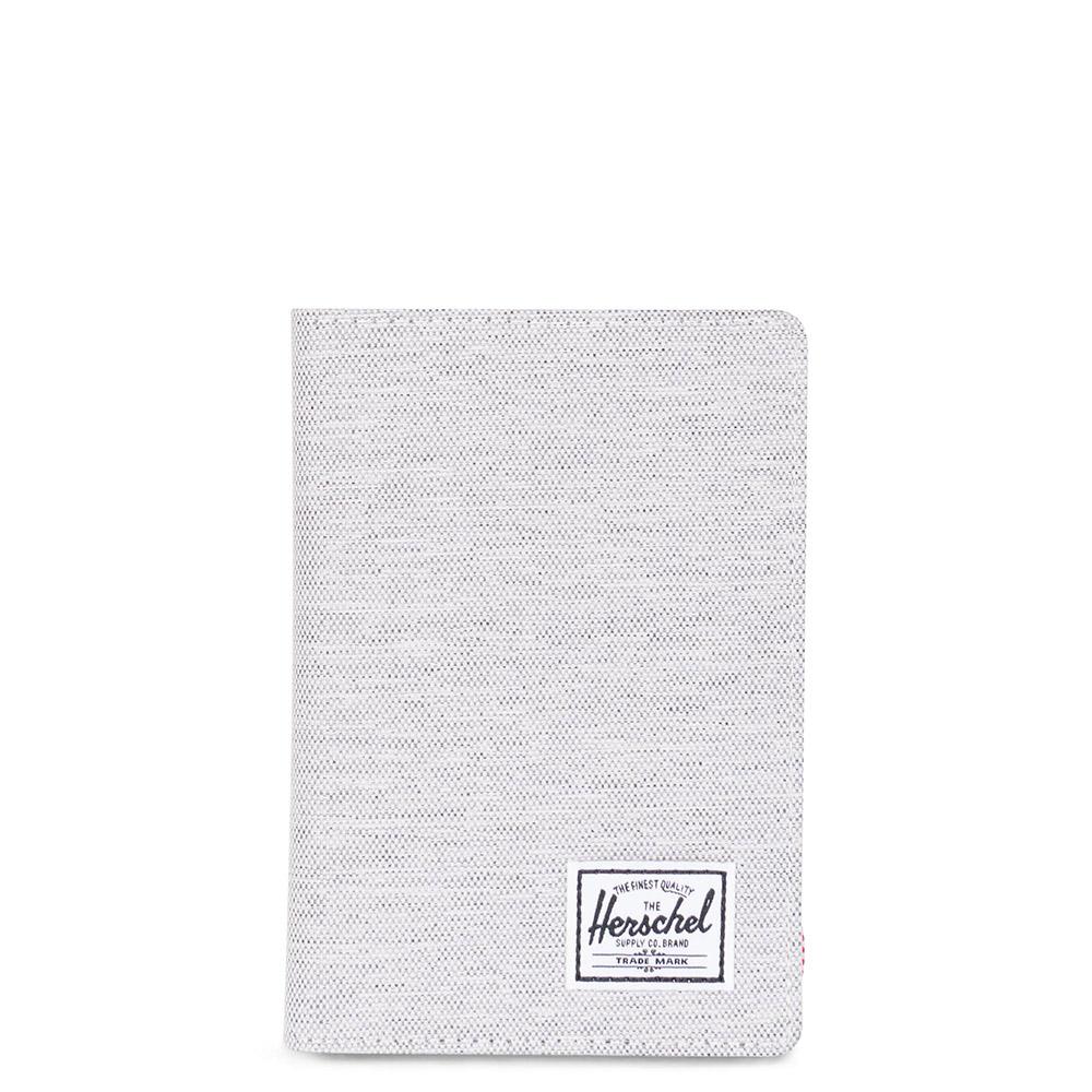 Herschel Raynor Passport Holder RFID Light Grey Crosshatch