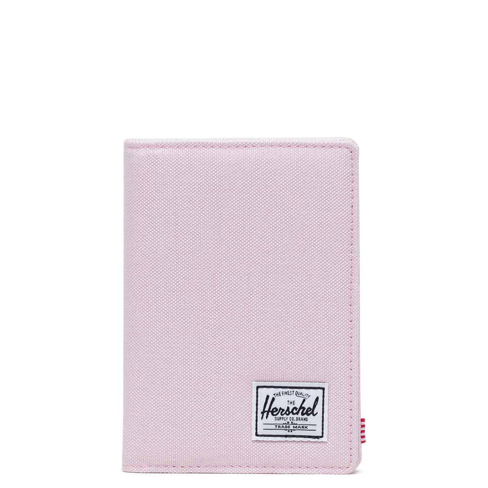 Herschel Raynor Passport Holder RFID Pink Lady Crosshatch