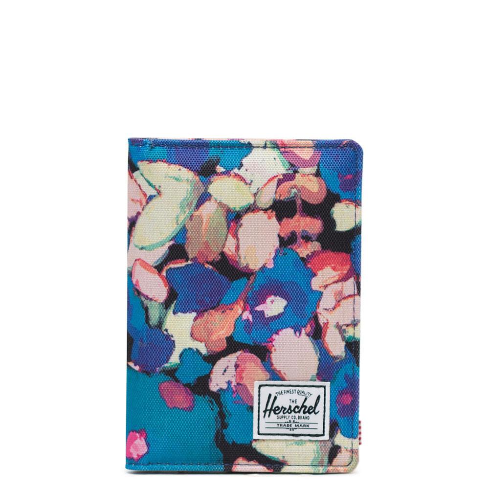 Herschel Raynor Passport Holder RFID Painted Floral