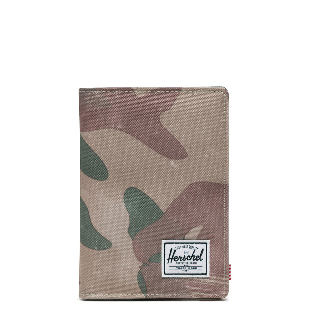 Herschel Raynor Passport Holder RFID Brushstroke Camo