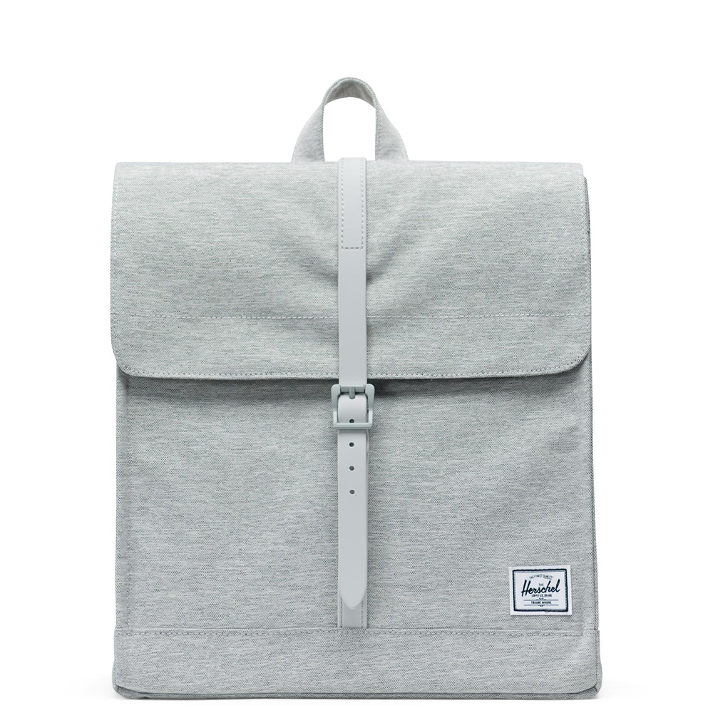Herschel City Rugzak Mid-Volume Light Grey Crosshatch Grey Rubber