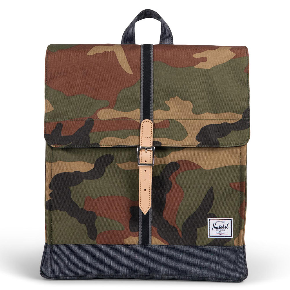 Herschel City Rugzak Offset Woodland Camo/Dark Denim