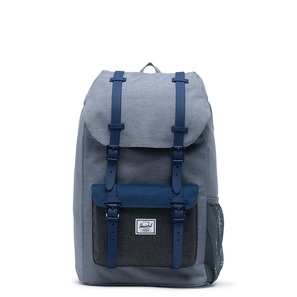 d909100d93d Herschel Little America Youth Rugzak Mid Grey Crosshatch/Medieval Blue  Crosshatc