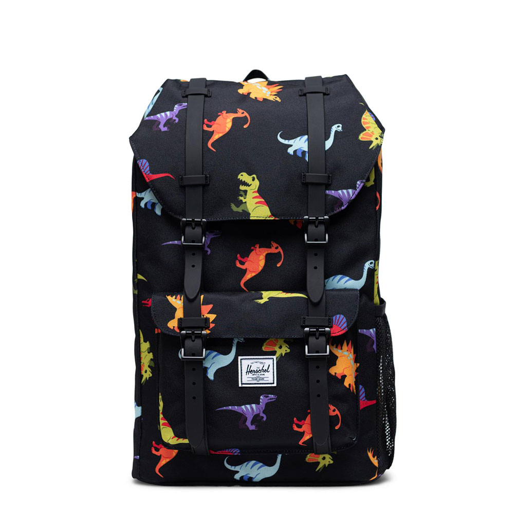 Herschel Little America Youth Rugzak Dinosaurs Black