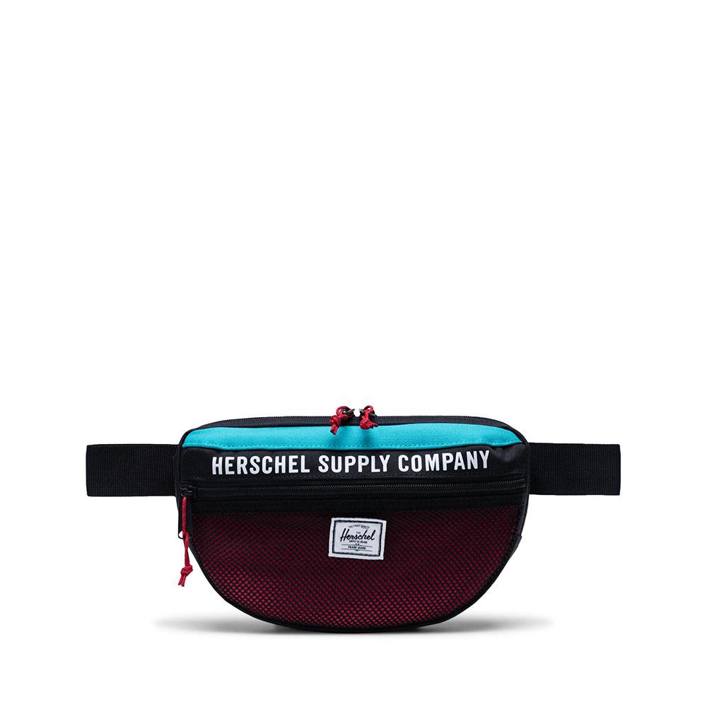 Herschel Nineteen Athletics Heuptas Black Tile Blue Raspberry Sorbet