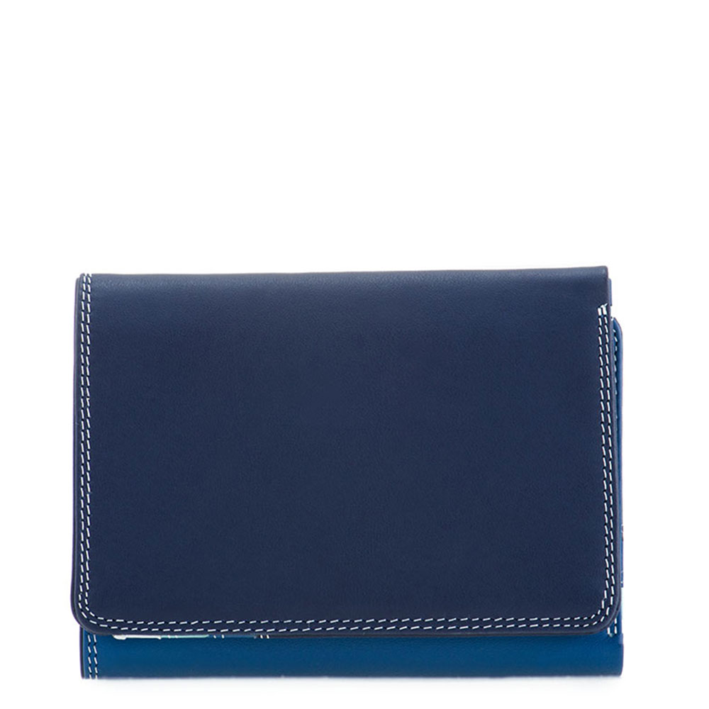 Mywalit Medium Tri-Fold Wallet Portemonnee Denim