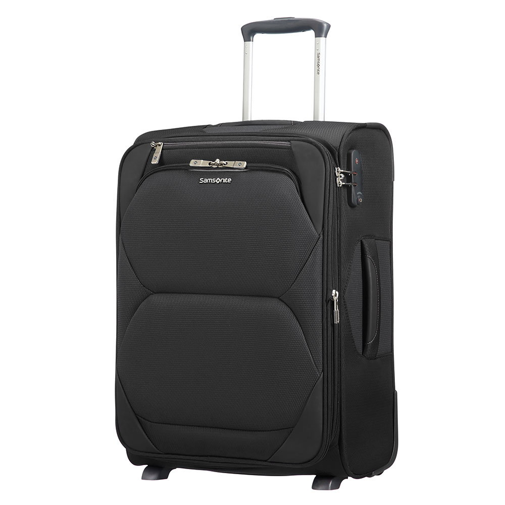 Zachte Koffers Samsonite Dynamore Upright 55 Expandable Length 40 Black