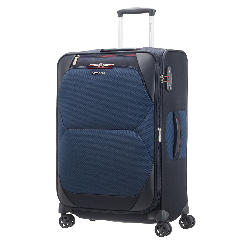 Samsonite Dynamore Spinner 67 Expandable Blue Samsonite Zachte Koffers