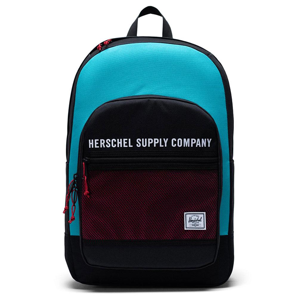 Herschel Kaine Rugzak Black/Tile Blue/Raspberry Sorbet