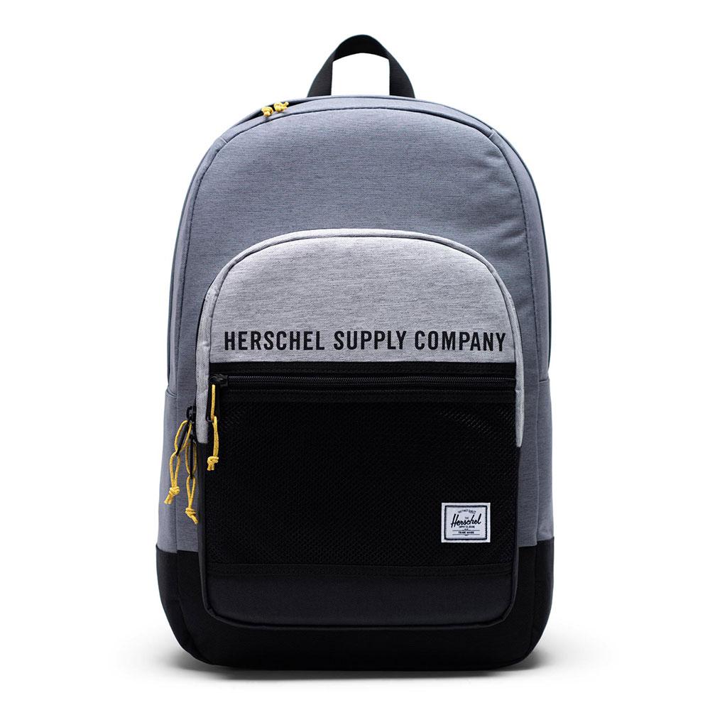 Herschel Kaine Rugzak Mid Grey Crosshatch-Light Grey Crosshatch-Black