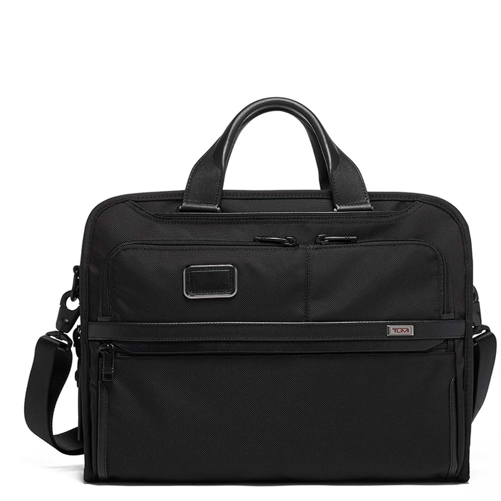 Tumi Alpha Organizer Portfolio Brief Black