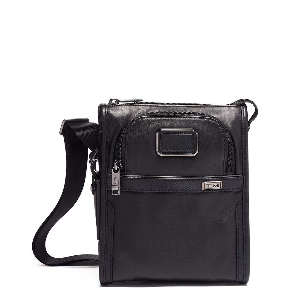 Tumi Alpha 3 Pocket Bag Small Leather Black
