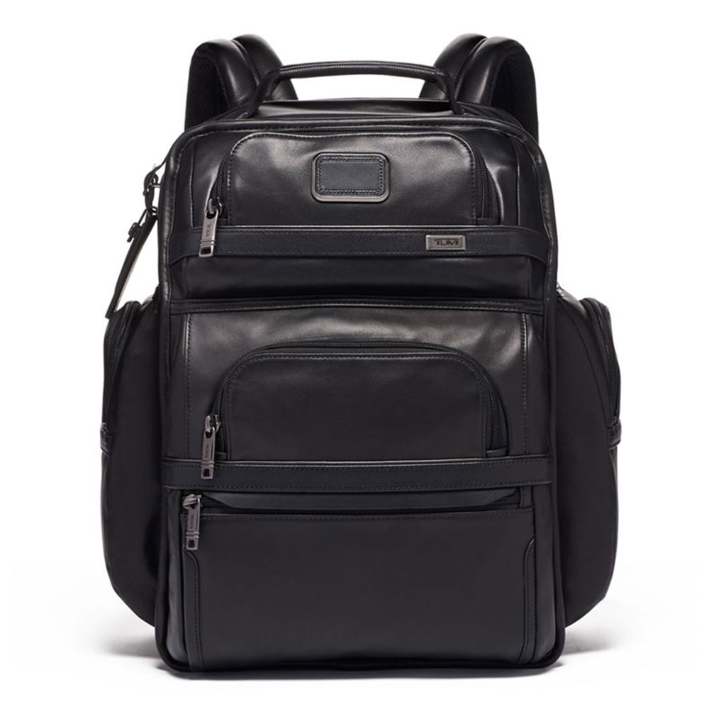 Tumi Alpha 3 Brief Pack Backpack Leather Black