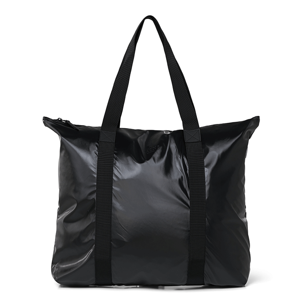 Rains Original Tote Bag Schoudertas Shiny Black