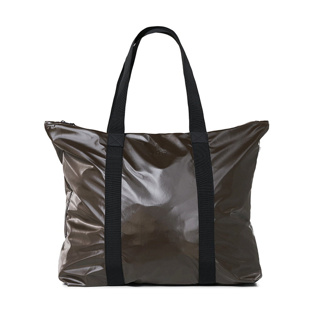 Rains Original Tote Bag Schoudertas Shiny Brown