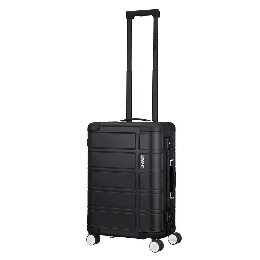 Afbeelding van American Tourister Alumo Spinner 55 Black Harde Koffers