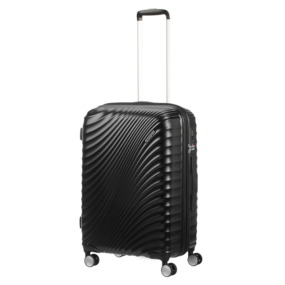 American Tourister Jetglam Spinner 67 Expandable Metallic Black
