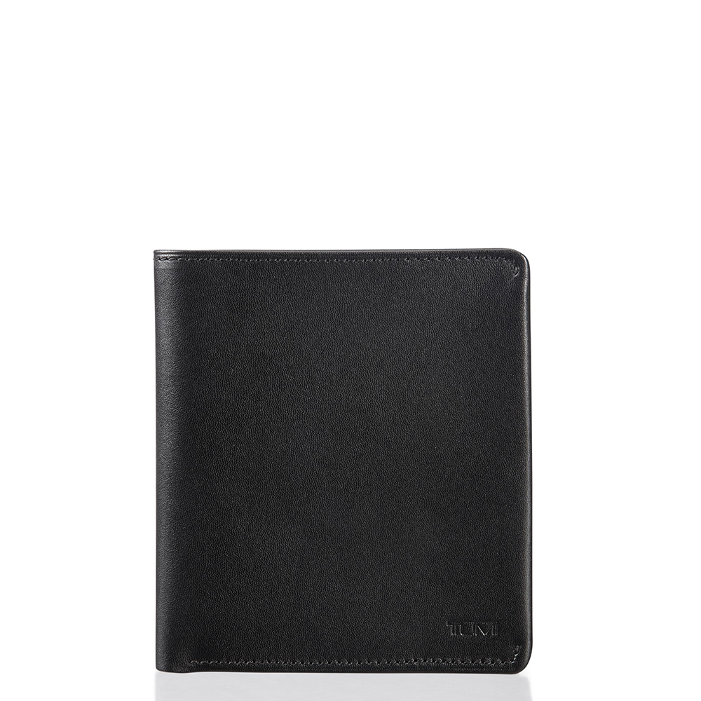 Tumi Nassau Global Flip Coin Wallet Black Smooth