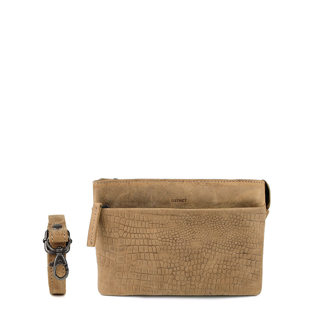 DSTRCT Alligator Creek Small Clutch Taupe 130130