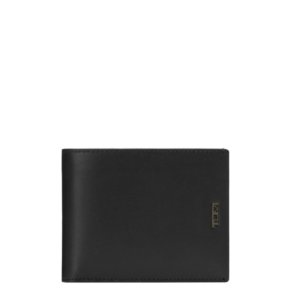 Tumi Nassau SLG Global Wallet Double Billfold Black Smooth