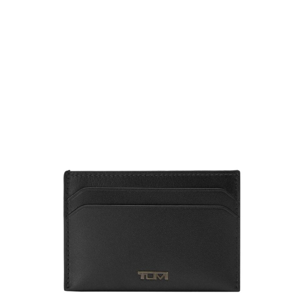 Tumi Nassau SLG Slim Card Case Wallet Black Smooth