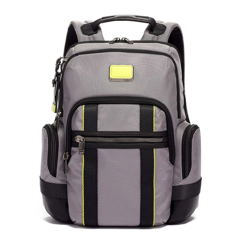 Tumi Alpha Bravo Nathan Backpack Grey/ Bright Lime
