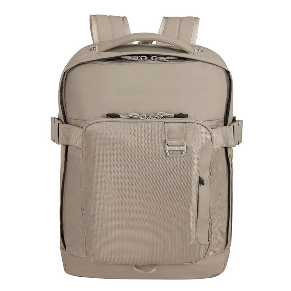 Samsonite Midtown Laptop Backpack L 15.6 Expandable Sand