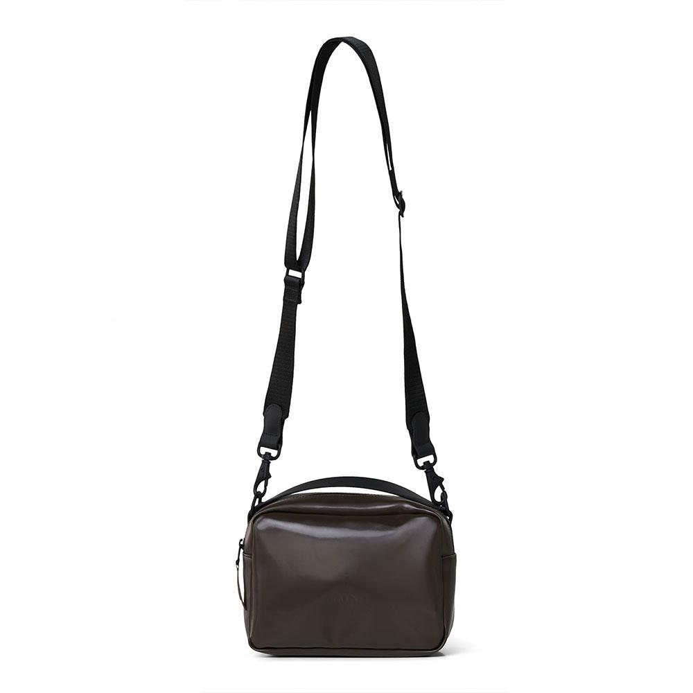 Rains Original Box Bag Shiny Brown